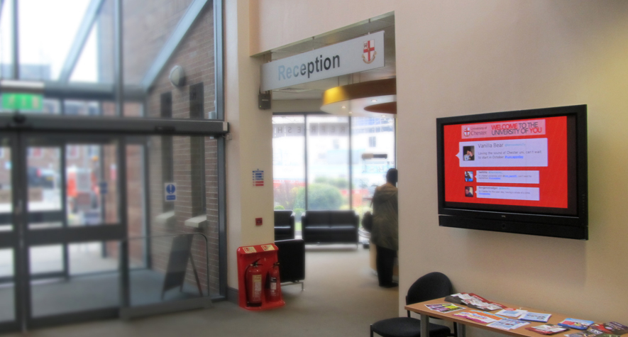 Digital Signage Campus Reception Screen