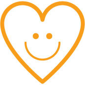 Happy heart icon