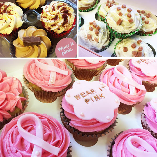 Delicious cakes sold to raise money for Breat Cancer Now at Jonathan lee Recruitment for Wear It Pink Day