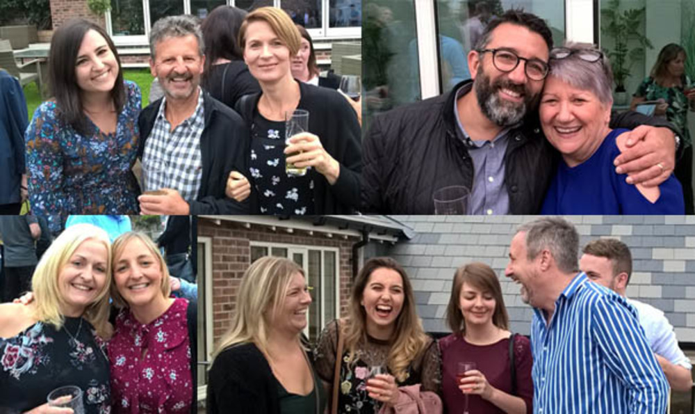Jenny Morrison, Jonathan Lee, Joanne Smithson, Paula Ingram, Jon Blaze, Hilary Wilding, Gill Street, Julian Maynard, Harry Corper, Tina Field, Shannon Wade and Amber Fletcher enjoying the summer barbecue with the team from Jonathan Lee Recruitment