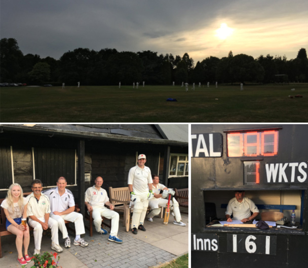 Hagley Hall cricket pitch hosts the teams from Jonathan Lee Recruitment and Higgs and Sons