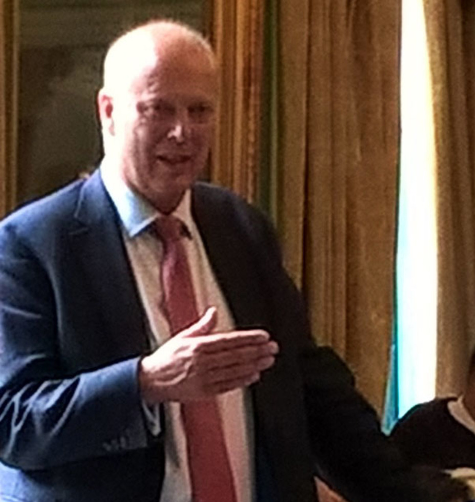 Chris Grayling, Secretary of State for Transport speaks at the Aviation Club luncheon in London 2017