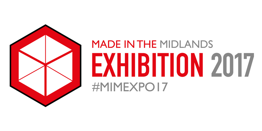 Made in the Midlands MiM exhibition logo 2017 with hashtag #MIMEXPO17
