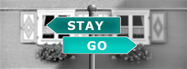 Sign to stay or go talking about counter offers to employees