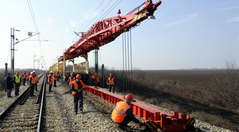 UK rail infrastructure project, permanent way and electrification