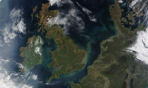 Satellite image of UK Space industry growth