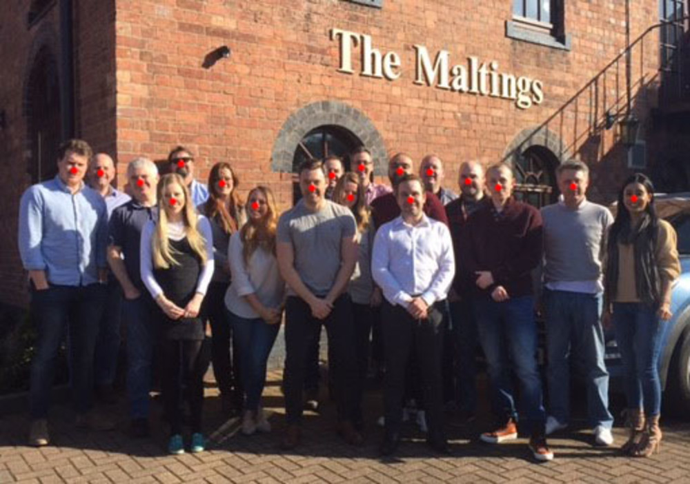 Team from Jonathan Lee Recruitment supporting Comic Relief's Red Nose Day