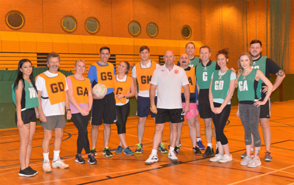 Jonathan Lee Recruitment charity netball fundraiser