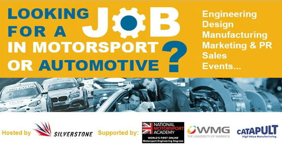 Motorsport and automotive industry careers fair with the MIA at Silverstone
