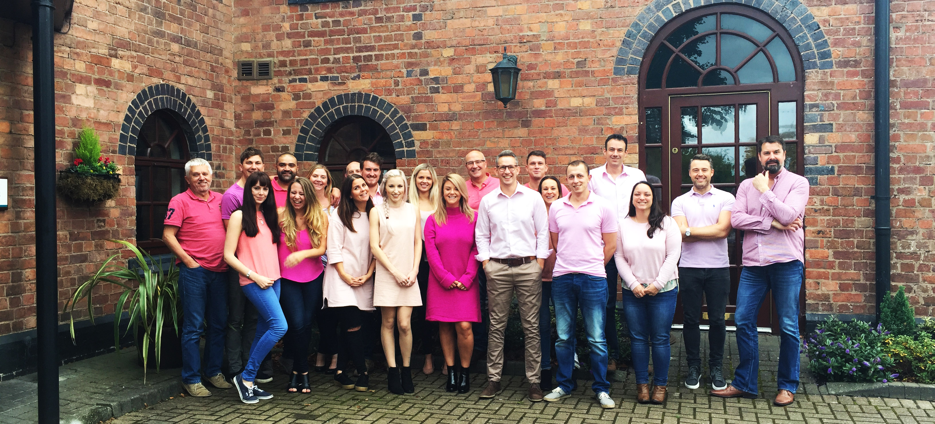 Jonathan Lee Recruitment celebrating Wear It Pink