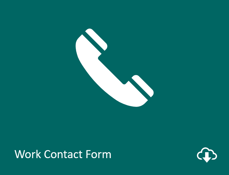 Work contact form download image