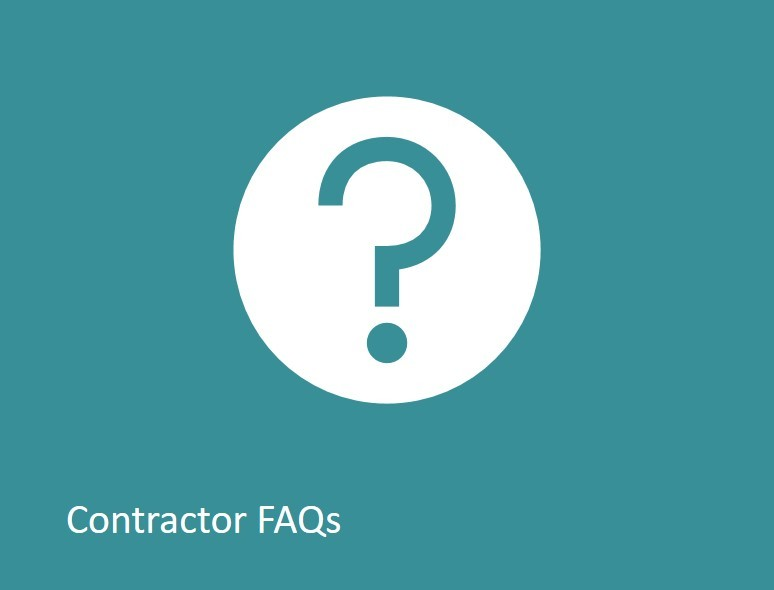 Contractor FAQs link image