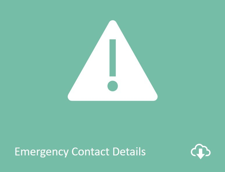 Emergency contact details download form image