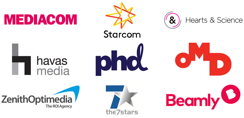 Logos of companies who have hired media planning and buying, comms planning and digital display specialists