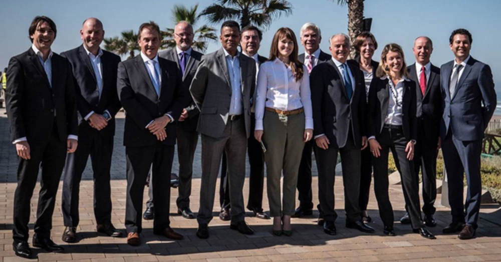 Members of IMSA International executive search in Morocco at the annual conference including Matthew Heath, Consultant at Jonathan Lee Recruitment