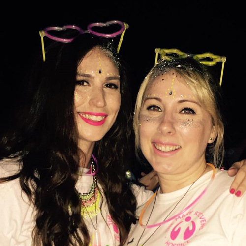 Jonathan Lee ladies at the Neon Night Run in aid of charity