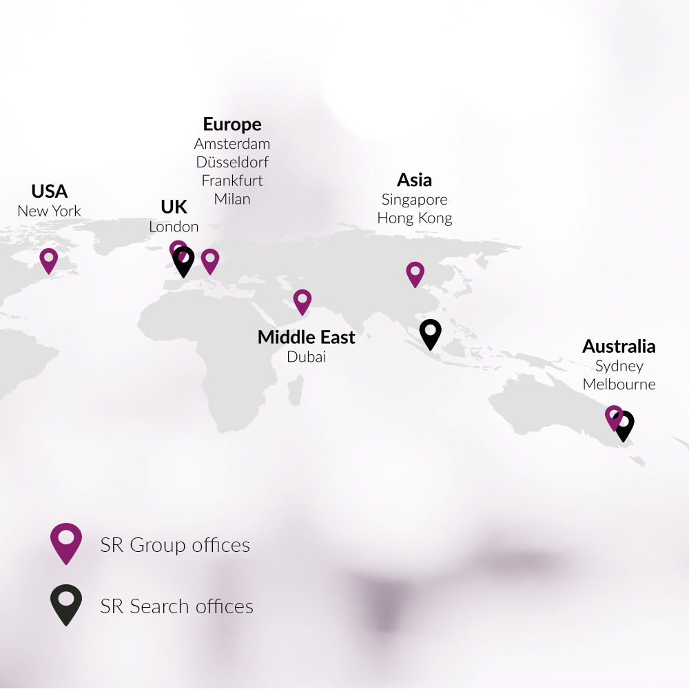 Global map of SR Search offices