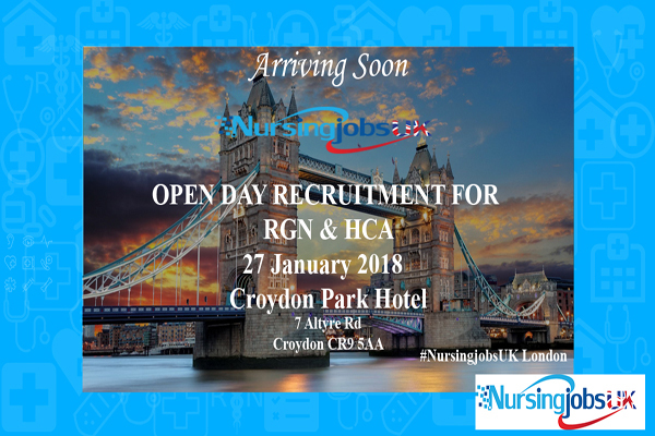 Open Day Recruitment For RGN's and HCA's In London