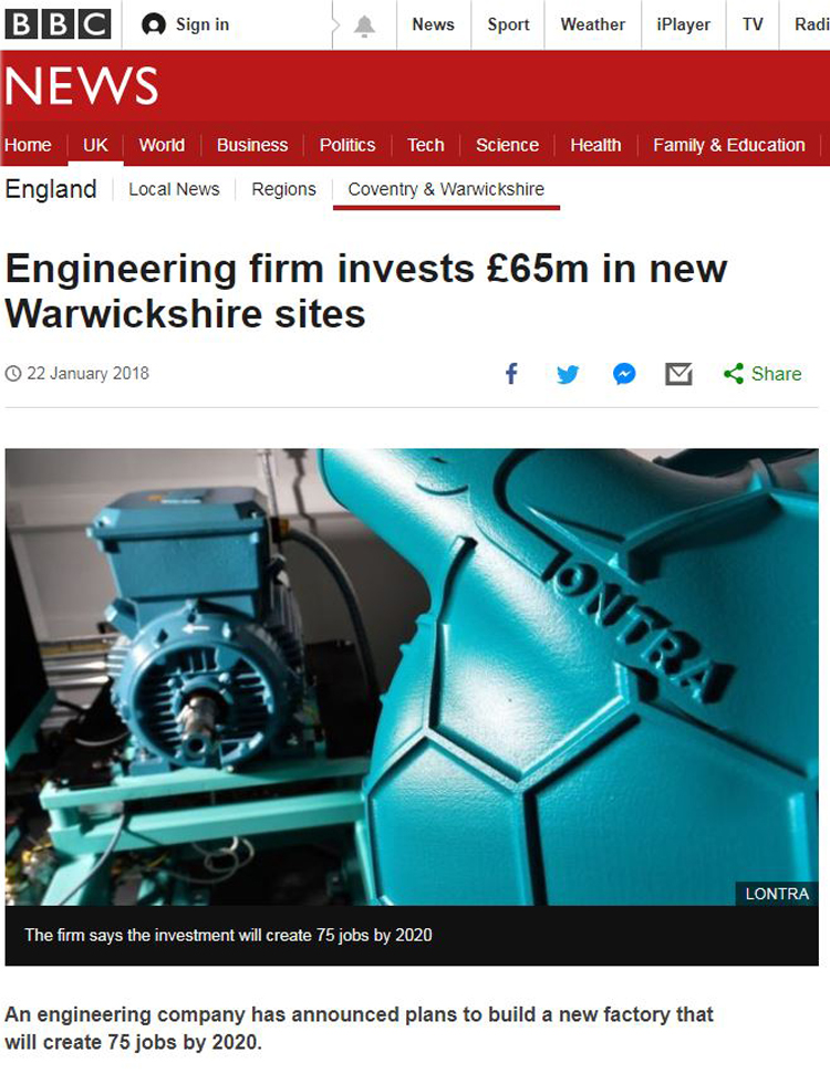 BBC - Lontra Invests in New Sites