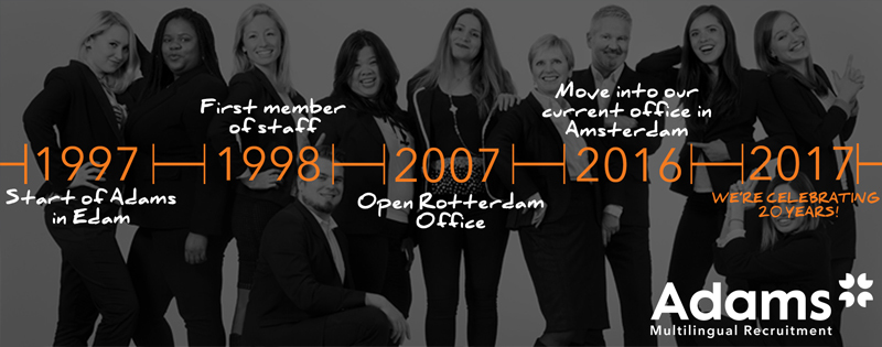 20 years of Adams Multilingual Recruitment
