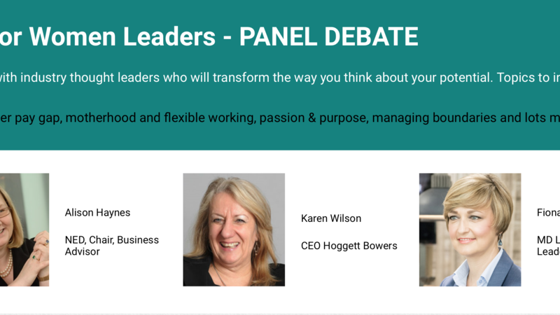 Fiona McKay Senior Leadership Panel Member at Women's Leadership Conference on 2 March 2018