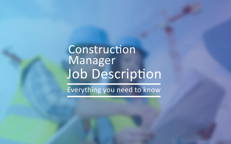 Construction Manager Job Description  Project Resource