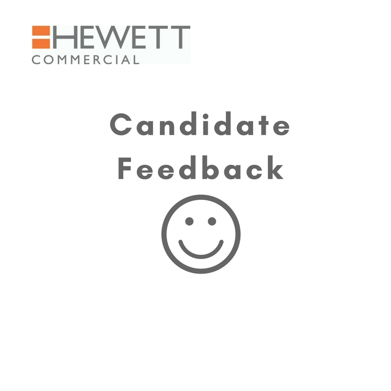 Candidate Feedback for Commercial Divison 10/10.