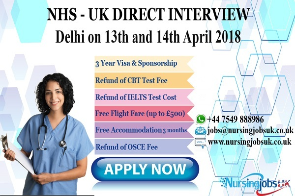 NHS INTERVIEW AT KOCHI & DELHI BY NURSINGJOBSUK