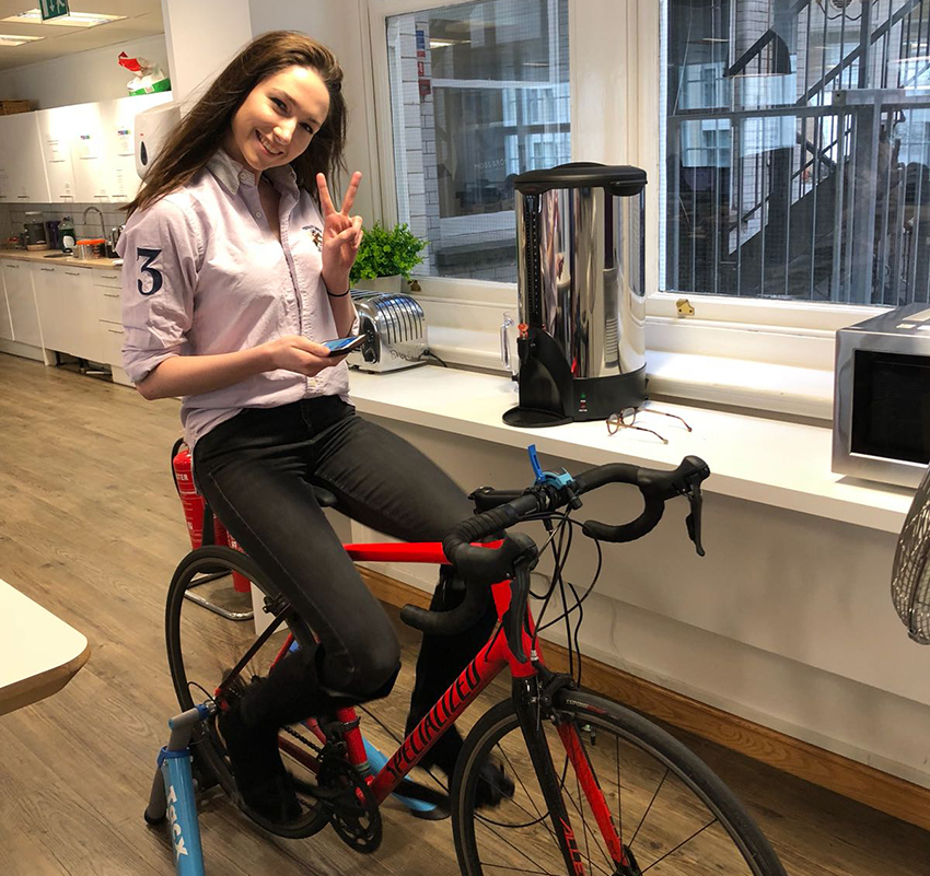 Girl riding bike for Sport's Relief 100 Mile Cycle-athon