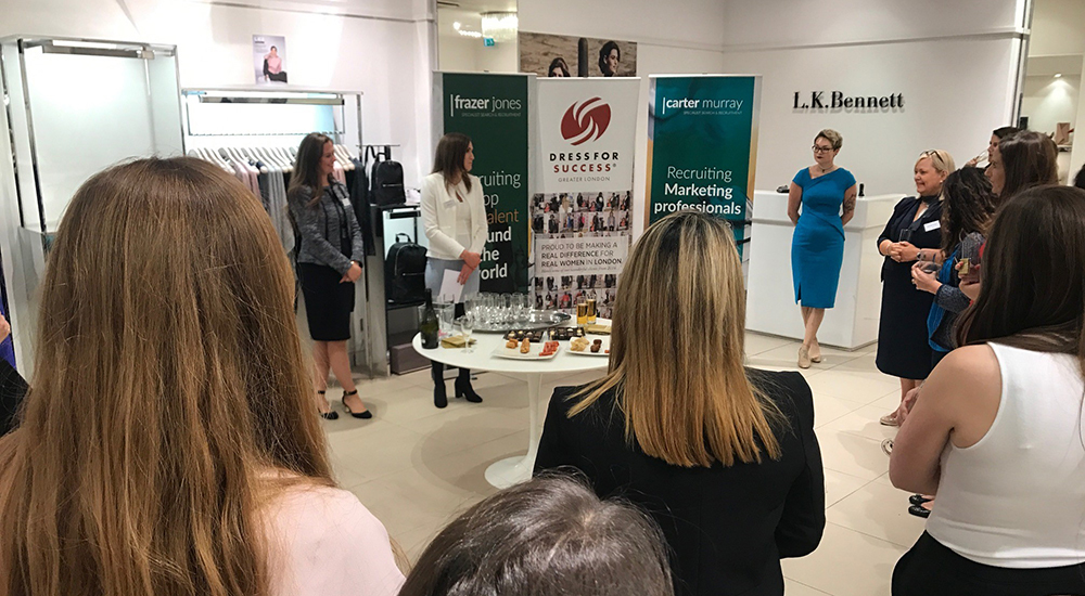 HR charity fashion event in partnership with Dress for Success and L.K. Bennett