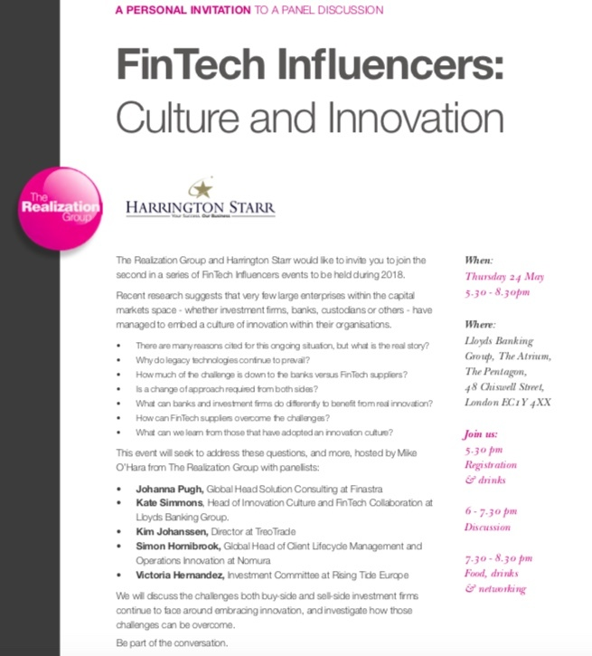 FinTech Influencers: Culture and Innovation - Harrington Starr