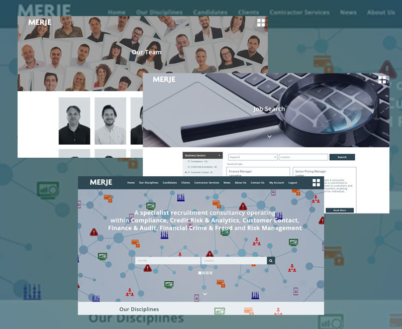 Award-winning specialist recruitment consultancy MERJE has launched its new website