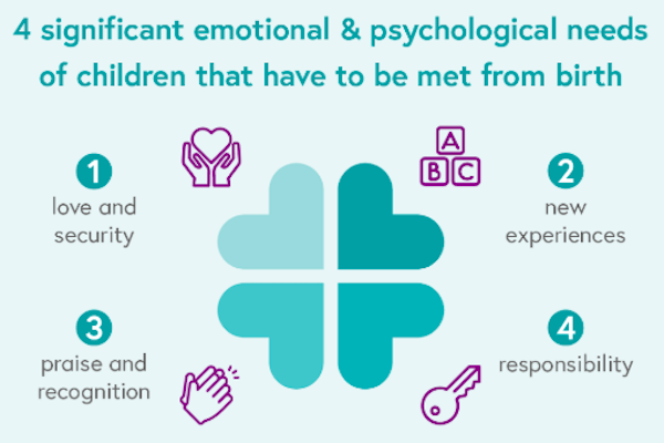 4 Significant emotional needs of a child