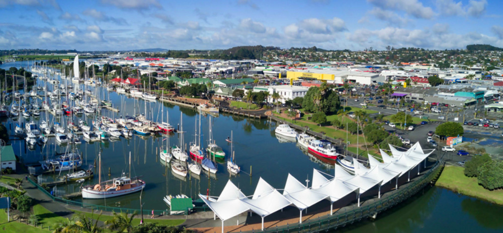 Whangarei View with boats New Zealand