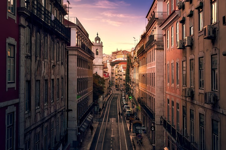 city, Europe, road, buildings, traffic, cars
