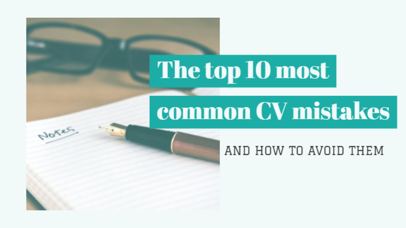 How to write a good CV and CV mistakes