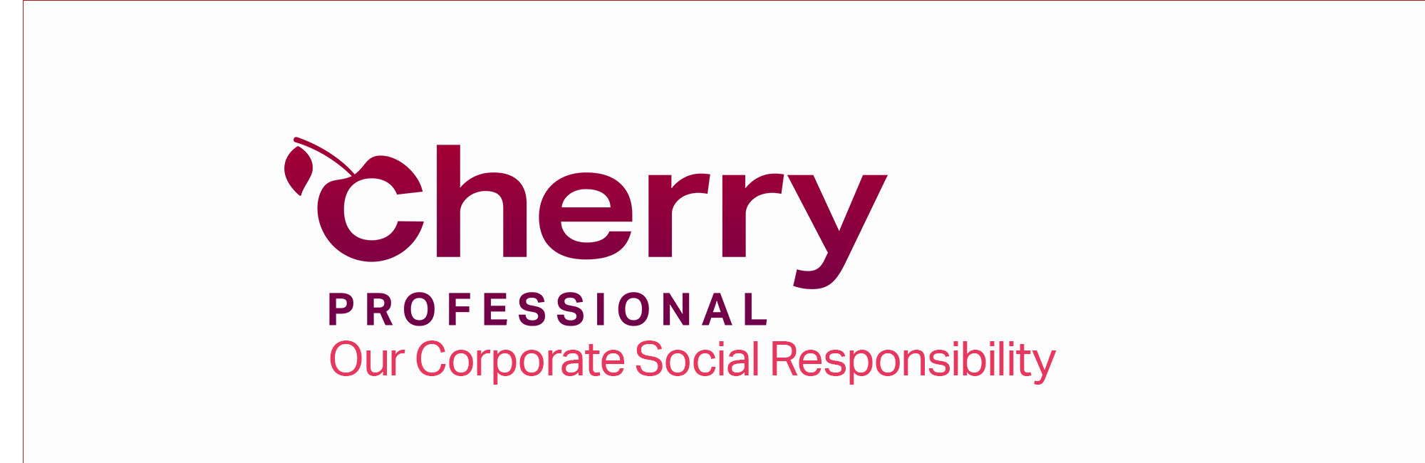 Cherry Professional, logo, CSR, corporate social responsibility
