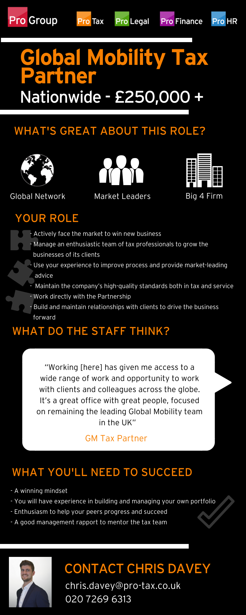 Global Mobility Tax Partner - Big 4 - Pro-Group