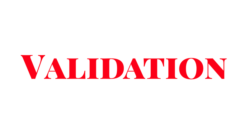 The importance of collaboration in Validaion