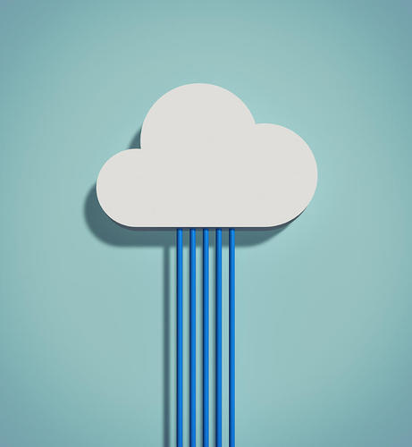 Cloud representing a software in Banking and Finance