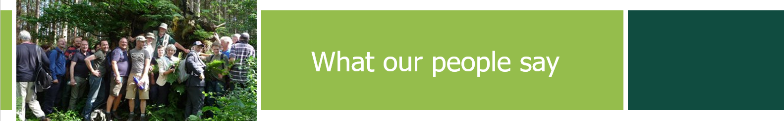Woodland Trust: what our people say