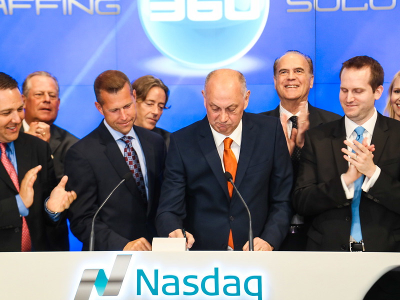 Staffing 360 is NASDAQ listed bell ring