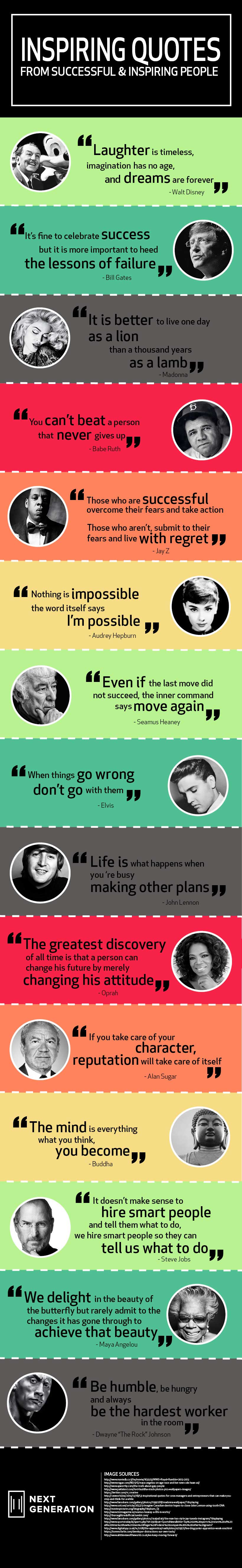 Infographic Inspiring Quotes From Successful Leaders Next Generation