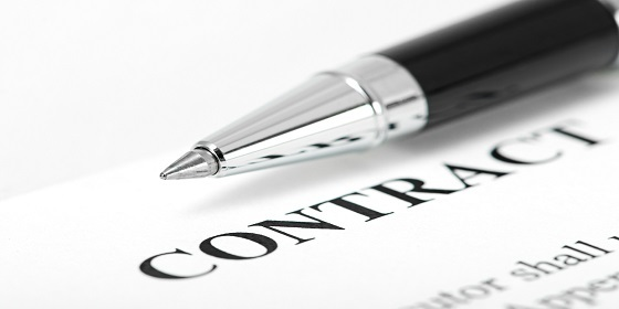 pen and employment contract