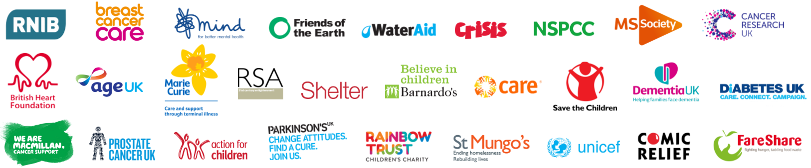 low priced c1b4d 8d132 Every year we recruit for more than 500 charities and not for profit  organisations of all shapes and sizes - here are just a few of the most  familiar names