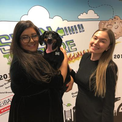 Swanstaff Recruitment staff with dog in office