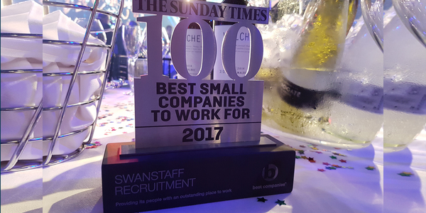 Swanstaff Recruitment win Sunday Times Best Companies Award