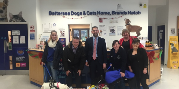 Swanstaff Recruitment visit battersea dogs home for charity appeal