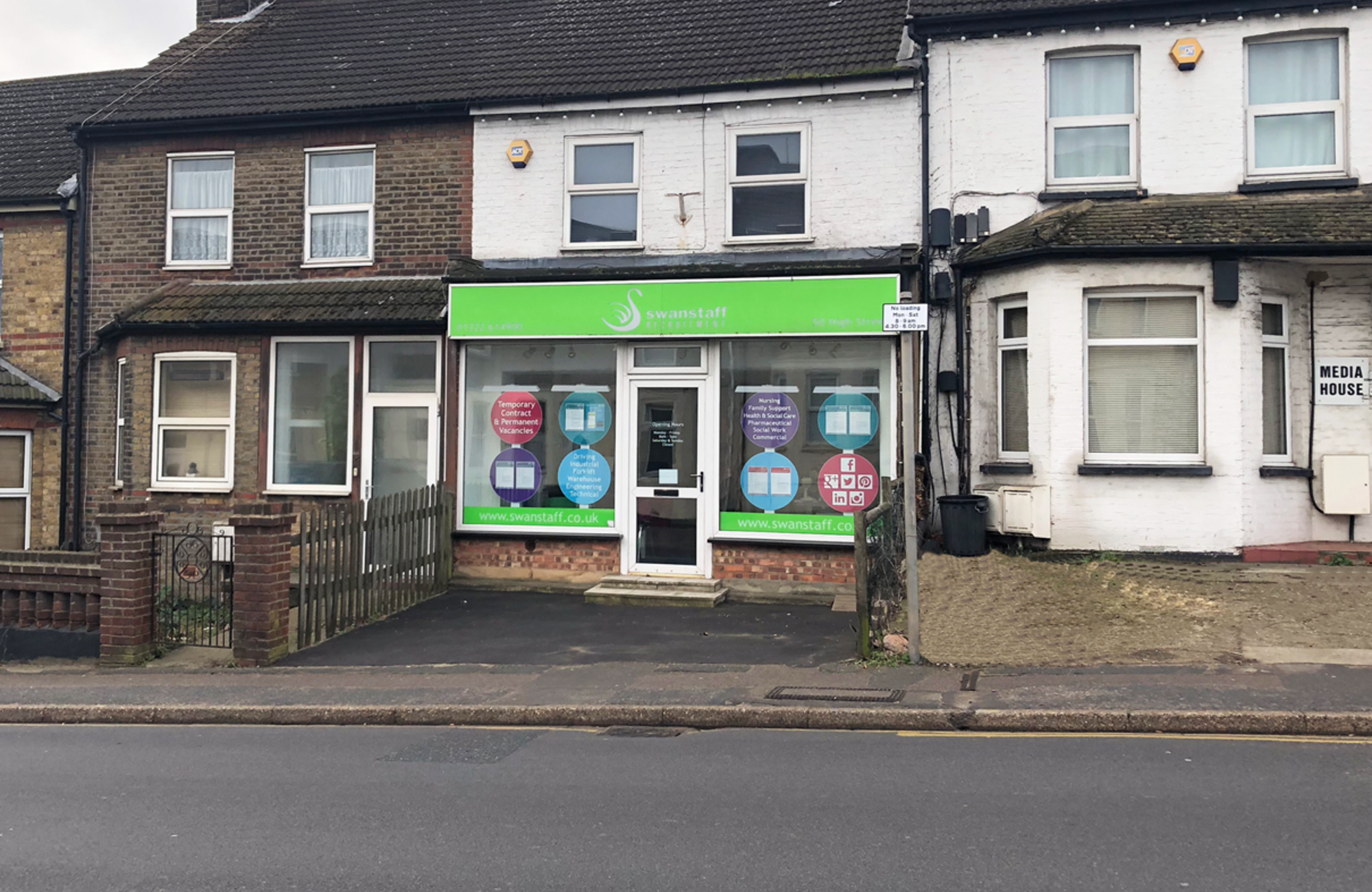 Swanley branch opens as Swanstaff's first high street location.