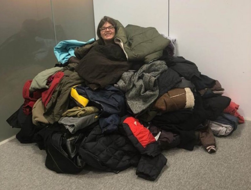 Coats collected for the homless by Swanstaff Recruitment Kent